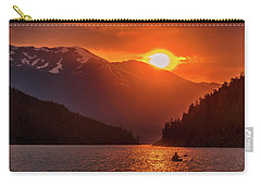 Kayak In The Sunset Glow Carry-all Pouch