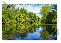 Carry-all Pouch featuring the photograph River Kayaking by Michael Rucker