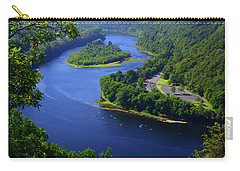 Carry-all Pouch featuring the photograph Kayaking The Delaware River by Raymond Salani III