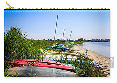 Kayaks On The Beach Carry-all Pouch