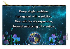 Kaypacha's Mantra 10.28.2015 Carry-all Pouch by Richard Laeton