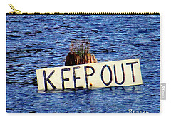 Carry-all Pouch featuring the photograph Keep Out 3 by Sadie Reneau