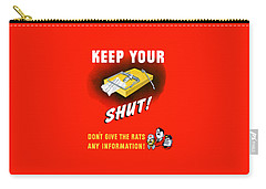 Keep Your Trap Shut -- Ww2 Propaganda Carry-all Pouch by War Is Hell Store