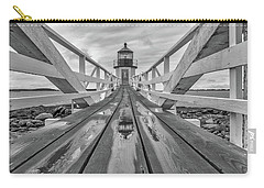 Carry-all Pouch featuring the photograph Keeper's Walkway At Marshall Point by Rick Berk