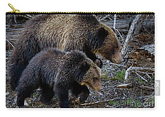 Carry-all Pouch featuring the photograph Keeping Up With Mom-signed by J L Woody Wooden