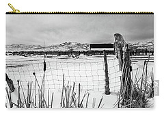 Keeping Watch Black And White Carry-all Pouch