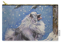 Keeshond In Wnter Carry-all Pouch