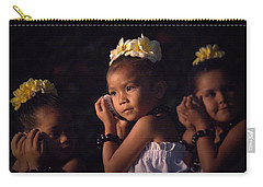 Carry-all Pouch featuring the photograph Keiki Conch Shell Hula by Lori Seaman