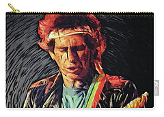 Carry-all Pouch featuring the photograph Keith Richards by Taylan Apukovska