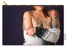 Kelsey Rose Carry-all Pouch by Sean Griffin