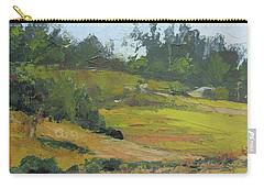 Carry-all Pouch featuring the painting Kenilworth Hills Queensland Australia by Chris Hobel