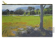 Carry-all Pouch featuring the painting Kenilworth Landscape Queensland Australia by Chris Hobel