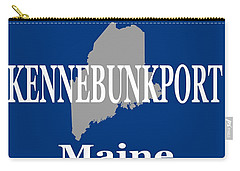 Carry-all Pouch featuring the photograph Kennebunk Maine State City And Town Pride  by Keith Webber Jr
