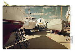 Carry-all Pouch featuring the photograph Kennebunk...springtime In The Boatyard by Samuel M Purvis III