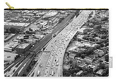 Carry-all Pouch featuring the photograph Kennedy Expressway And Chicago Skyline by Adam Romanowicz