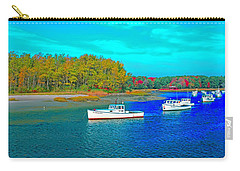 Carry-all Pouch featuring the photograph Kennebunkport, Maine, Lobster Boats by Tom Jelen