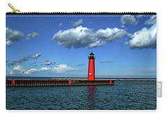 Kenosha North Pier Lighthouse Carry-all Pouch by Anthony Dezenzio