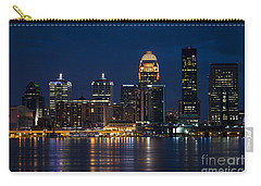 Carry-all Pouch featuring the photograph Louisville At Night by Andrea Silies