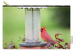 Carry-all Pouch featuring the photograph Kentucky Cardinal  by Ricky L Jones