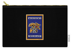 Ky Wildcats Logo T-shirt Carry-all Pouch by Herb Strobino