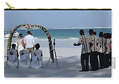 Kenya Wedding On Beach Happy Couple Carry-all Pouch