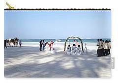 Kenya Wedding On Beach Wide Scene Carry-all Pouch by Exploramum Exploramum