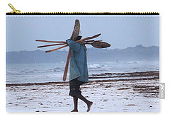 Kenyan Fisherman And Oars Carry-all Pouch
