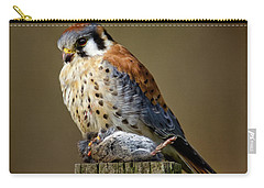 Kestrel With Prey Carry-all Pouch