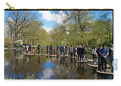 Carry-all Pouch featuring the photograph Keukenhof Gardens In Lisse, Netherlands by Hans Engbers