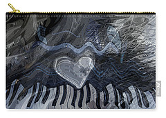 Carry-all Pouch featuring the digital art Key Waves by Linda Sannuti