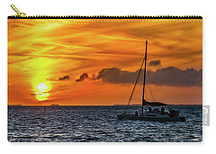 Carry-all Pouch featuring the photograph Key West Double Sun Sunset by Bob Slitzan