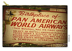 Key West Florida - Pan American Airways Birthplace Sign Carry-all Pouch