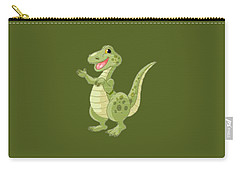 Kiddies Dinosaur T-shirt Carry-all Pouch by Herb Strobino