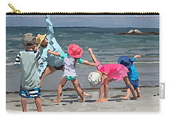 Kid's Yoga Class On Wingaersheek Beach Carry-all Pouch