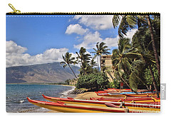 Carry-all Pouch featuring the photograph Kihei Canoe Maui by DJ Florek