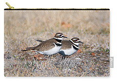 Killdeer Mates Carry-all Pouch by Elizabeth Winter