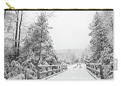 Carry-all Pouch featuring the photograph Kindness Is Like Snow by Lori Deiter
