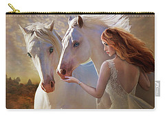 Carry-all Pouch featuring the digital art Kindred Spirits by Melinda Hughes-Berland