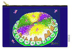 Carry-all Pouch featuring the digital art King Cake by Jean Pacheco Ravinski