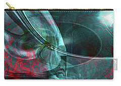 Carry-all Pouch featuring the digital art King Crimson by Linda Sannuti