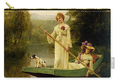 King Henry John Yeend Two Ladies Punting On The River Carry-all Pouch