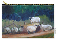 Carry-all Pouch featuring the painting King Of Green Hill Farm by Donna Tuten