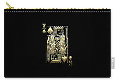 King Of Spades In Gold On Black   Carry-all Pouch