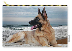 King Of The Beach - German Shepherd Dog Carry-all Pouch