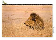 King Of The Pride Carry-all Pouch by Adam Romanowicz