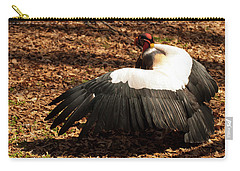 Carry-all Pouch featuring the photograph King Vulture 2 Strutting by Chris Flees