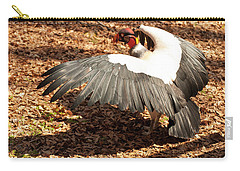 Carry-all Pouch featuring the photograph King Vulture 3 Strutting by Chris Flees