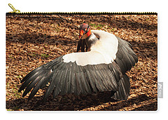 Carry-all Pouch featuring the photograph King Vulture 4 Strutting by Chris Flees