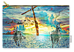 Carry-all Pouch featuring the digital art Kingdom Come by Jessica Eli