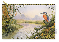 Kingfisher  Autumn River Scene Carry-all Pouch